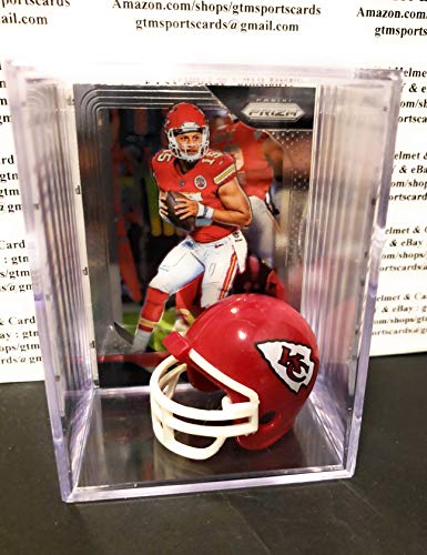 Patrick Mahomes Kansas City Chiefs Mini Helmet Card Display Collectible Case Auto Shadowbox Autograph from gtmsportscards