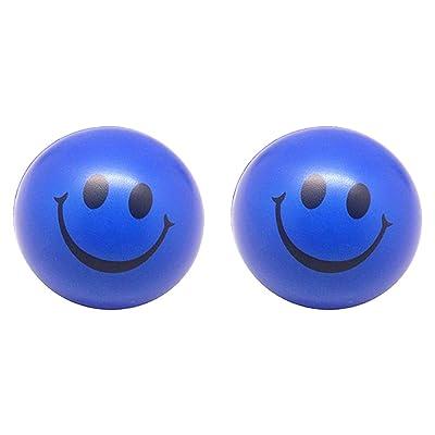 - Pelota Anti Estrés,Bola Anti-Estrés,Juguetes antiestrés DISEÑO de Carita Sonriente 2PCS(Azul): Juguetes y juegos