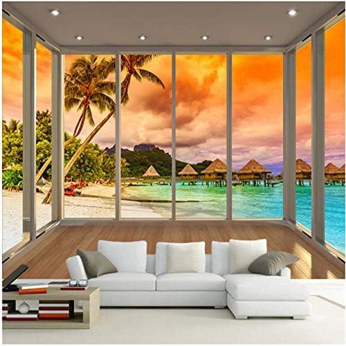 Modern Beautiful Window Balcony Beach Sea View Nature