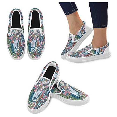 Unik Debora Anpassade Mode Kvinna Gymnastikskor Ovanliga Loafers Slip-on Tygskor Multicoloured16