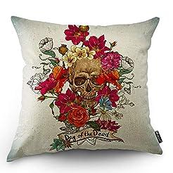 Moslion Skull Decorative Throw Pillow Co...