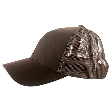 4204a974873720 Ponytail Dame Hut Baseball Cap Outdoor Camp Anti -Sun Hats Retro Color  Visier Kappe Casual Fashion Trucker Messy Buns Plain Visor Cap Golf Sports  Hüte ...