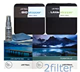 Lee Filters 77mm Premium Long Exposure Kit - Lee Foundation Kit, 77mm Wide Angle Ring, 4x4 Big Stopper and 4x4 Little Stopper with 2filter cleaning kit