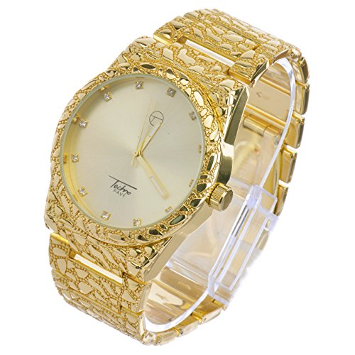 Gold nugget watches for men