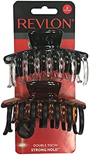 Revlon Prendedores de garra de cabelo com fixação forte, 2 unidades
