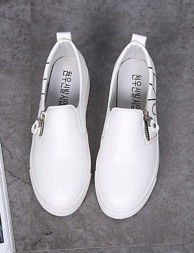 Tempo ShangYi Comoda alla libero gyht Casual Donna Scarpe moda Formale Piatto Bianco pelle Black Finta Nero Sneakers YwYvrqI