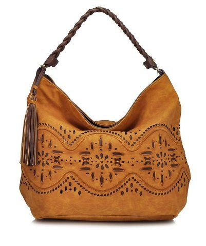 Boho-Chic Vacation & Fall Looks - Standard & Plus Size Styless - Steven by Steve Madden Jaide Crossbody Hobo Bag Tan