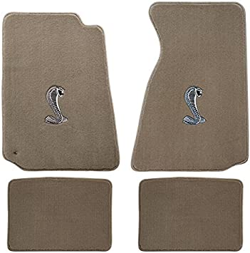 Amazon Com 94 04 Ford Mustang Parchment Carpet Floor Mats W Cobra Emblem Automotive