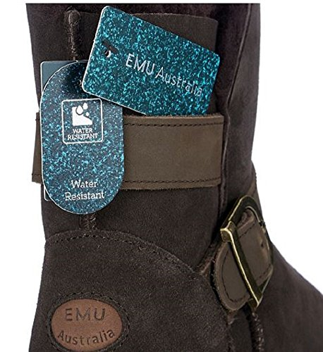 EMU Originals Northerly Lo Water Resistant Sheepskin Boots - Chocolate - UK 3 - EU - 35/36 - US 5 sg3fr3