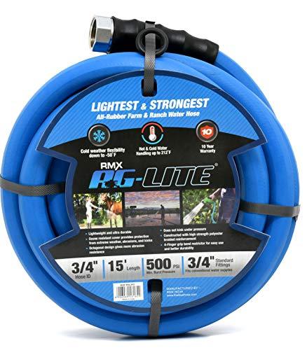 AG-Lite Rubber Hot & Cold Water Rubber Garden Hose: Ultra-Light & Super Strong  (3/4