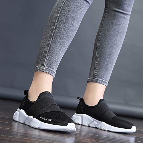 38 black Correr para Malla Plano Correr Las de Zapatos de Transpirable Zapatillas KOKQSX y luz 35 Fondo Red Superficies Black Shoes Deporte Gimnasio la tRgPw