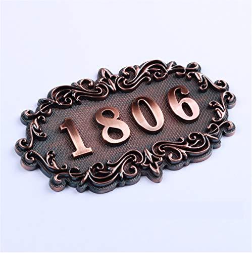 Zzooi Custom Classical Address Plaque House Hotel Office Door Number House Hotel Office Number ()