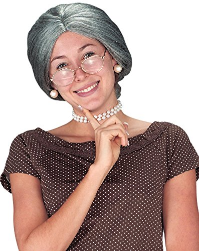 Granny Costume Accessories (Wig Granny Grey Costume Accessory)