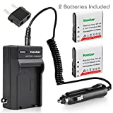 Kastar Battery (X2) & Travel Charger for Casio NP-40 NP40 & Kodak LB-060 AZ521 AZ361 AZ501 AZ522 AZ362 AZ526, HP D3500 SKL-60 V5060H V5061U Cameras and SUN06 YCO6 Full HD Portable Camcorders
