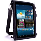 USA GEAR Neoprene Tablet Case Sleeve with Touch Capacitive Screen Protector & Adjustable Shoulder Strap - Works with Samsung Galaxy Tab 4 10.1 , ASUS ZenPad 10 , Sony Xperia Z4 Tablet & More!