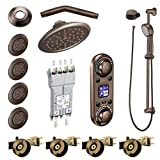 Moen KSPIO-HSB-TS296ORB Vertical Spa Kit with Handheld Shower and Slide Bar, Oil Rubbed Bronze