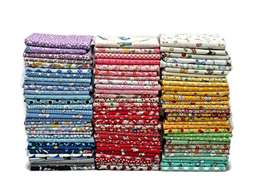(Field's Fabrics 10 Fat Quarters - 1930's to 1950's Reproduction Depression Era Feed Sack Small Scale Floral Vintage-Look Flowers Nostalgia Prints Assorted Fat Quarter Bundle M229.02)