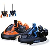 KidiRace Remote Control RC Bumper Cars - Set of 2 - with Rechargeable Batteries and 2 Wall Chargers