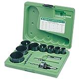 Greenlee 891 Electricians Bi-Metal Hole Saw Kit Conduit Sizes, 3/4-Inch - 2-1/2-Inch