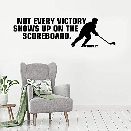 Putaiz Vinyl Wall Art Inspirational Quotes and Saying Home Decor Decal Sticker Not Every Victory Shows Up On The Scoreboard. Hockey.