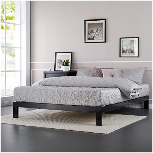 ZINUS Arnav Metal Platform Bed Frame / Wood Slat Support / No Box Spring Needed / Easy Assembly, Black, Twin