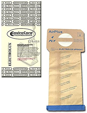 Airplus Vacuum Bags for Electrolux Upright Vacuums 4 Ply Allergy 12