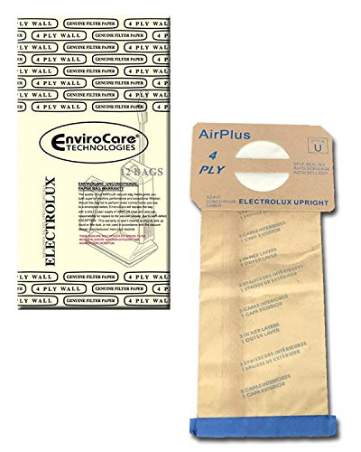 Series 2000 Paper (EnviroCare Replacement Vacuum bags for Electrolux Style U Discovery Uprights 12 pack)