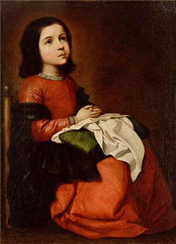 High Quality Polyster Canvas ,the Amazing Art Decorative Prints On Canvas Of Oil Painting 'The Childhood Of The Virgin,1660 By Francisco De Zurbaran', 16x22 Inch / 41x57 Cm Is Best For Hallway Decor And Home Artwork And Gifts by Leo Brown