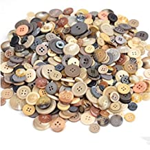 ArMordy(TM) 600pcs/Lot Mix Size DIY Round Resin Buttons Sewing Button Bulk Button Scrapbooking Sewing Craft DIY Tools QDD9096[ greybrown ]