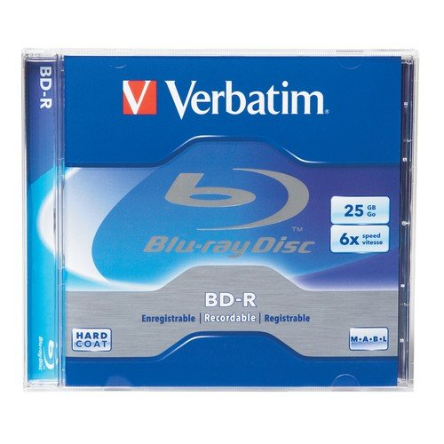Verbatim BD-R 25GB 6X Blu-ray Recordable Media Disc - 1 Disc Jewel Case Box VERBATIM CORPORATION 96910 Blank Media & Cleaning Cartridges
