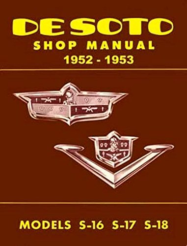 - 1952 1953 DeSOTO REPAIR SHOP & SERVICE MANUAL & BODY MANUAL INCLUDES: 1953 De Soto Firedome S-16, Powermaster S-18, 1952 Firedome V-8 S-17 in sedan, club coupe, Sportsman, convertible coupe, and station wagon models. 52 53
