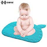 Toddler Bath Seat BBCare Whale Shaped Baby Non-Slip Bathtub Mat with Strong Suction Cups-Blue