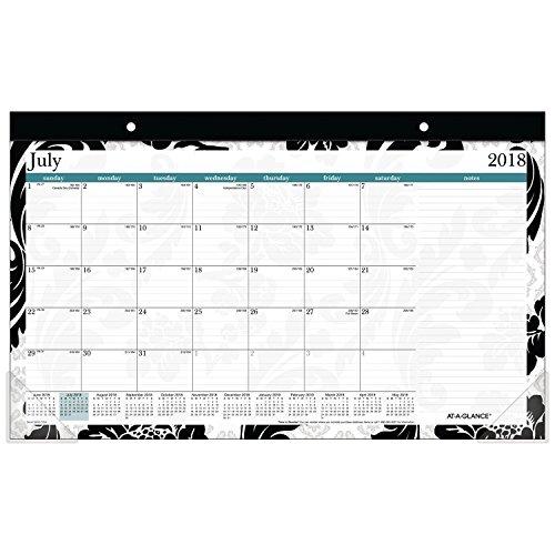 AT-A-GLANCE 2018-2019 Academic Year Desk Pad Calendar, Compact, 17-3/4 x 10-7/8, Madrid (SK93-705A-A8)