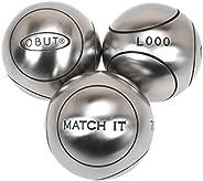 Obut - Match it (1) inox 71mm : - Boules de pétanque - Argent métalisé - Taille 720g