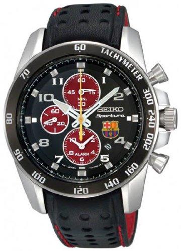 Amazon.com  Men s SNAE75P1 FC Barcelona Limited Edition Sportura Quartz  Alarm Chronograph  Seiko  Watches fbaa6d5532