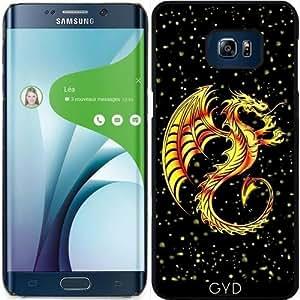 Funda para Samsung Galaxy S6 Edge Plus - Dragón Dorado by BluedarkArt