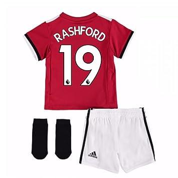 8f891b84 UKSoccershop 2017-2018 Man United Home Baby Kit (Marcus Rashford 19):  Amazon.co.uk: Sports & Outdoors