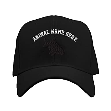 8a26a1b6a90 Baseball Hat Carp Funny DHI Embroidery Animal Name Acrylic Structured Cap  Hook   Loop - Black