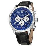 Stuhrling Original Men's 858L.02 Octane Concorso Silhouette Analog Swiss Quartz Black Croc-Textured Leather Watch