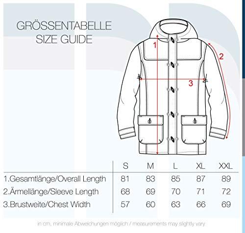Solid Wummer Manteau De Laine Veste Longue D'Hiver Duffel-Coat Pour Homme À Capuche