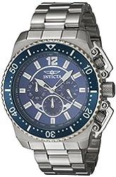 Invicta Men's Pro Diver Steel Bracelet & Case Quartz Blue Dial Analog Watch 21953