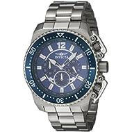 Men's 'Pro Diver' Quartz Stainless Steel Casual Watch, Color:Silver-Toned (Model: 21953)