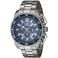 [Sponsored] Invicta Men's 'Pro Diver' Quartz Stainless Steel Casual Watch, Color:Silver-Toned (Model: 21953)