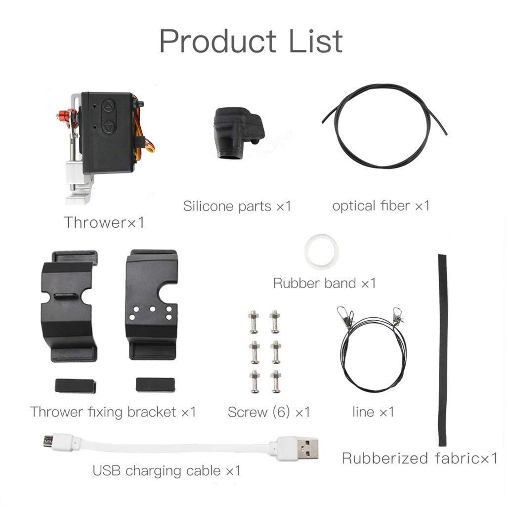 LONGZUYS Mavic Pro Drop Device Kit, Compatible Mavic Pro Upgrade Drone Clip Payload Delivery Drop Transport Device for DJI (Gray) by LONGZUYS (Image #4)