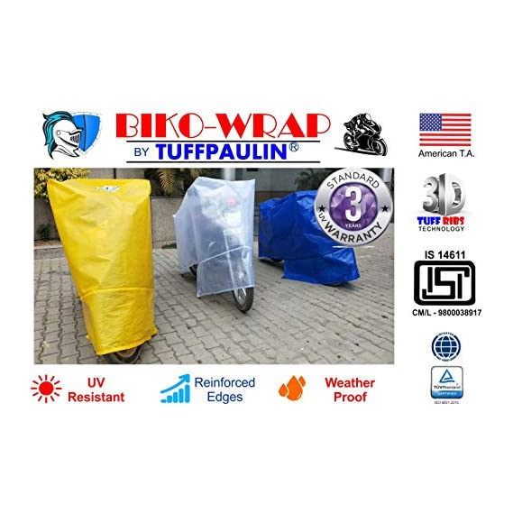 Tuffpaulin Tarpaulin Automobile Covers Waterproof Universal 2-Wheeler Bike Body Cover (Blue)