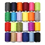 Material: Polyester  Length: 1000 yards per spool  24 different colours,each colour per spool  Package included:  24PCS x thread spool  Notice:  1.Please allow 1-5mm error due to manual measurement.  please make sure you do not mind before yo...