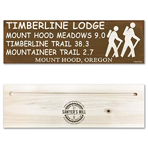 Timberline Lodge Mount Hood Oregon Trail Sign for Hikers