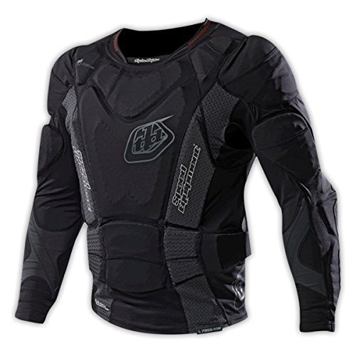 Troy Lee Designs 7855 Heavyweight Long-Sleeve Protection Shirt Solid Black, L from Troy Lee Designs