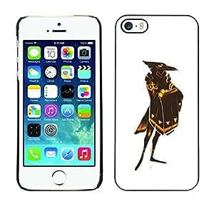 TopCaseStore / la caja del caucho duro de la cubierta de protección de la piel - White Raven God Bird Gold Shield - Apple iPhone 5 / 5S
