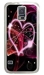 case mate Samsung Galaxy S5 cases Heart Dance PC Transparent Custom Samsung Galaxy S5 Case Cover